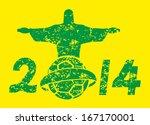 brazilian football retro style... | Shutterstock .eps vector #167170001
