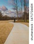 A Cement Cart Path Through...