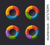 circular chart template set....   Shutterstock . vector #167176394