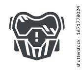 paintball mask black icon on... | Shutterstock .eps vector #1671778024