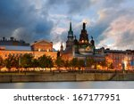 old architecture at dusk on... | Shutterstock . vector #167177951