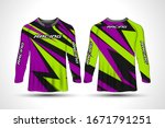 long sleeve t shirt sport... | Shutterstock .eps vector #1671791251