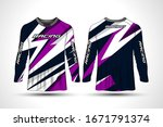 long sleeve t shirt sport... | Shutterstock .eps vector #1671791374