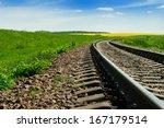 A Railway Turns Upright Throug...