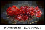 vector angular mosaic with... | Shutterstock .eps vector #1671799027