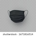 mask isolated on transparent... | Shutterstock .eps vector #1671816514