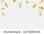 golden confetti isolated on... | Shutterstock .eps vector #1671830131