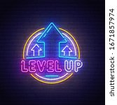 level up neon sign  bright...