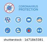 corona virus protection... | Shutterstock .eps vector #1671865381