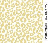 seamless leopard stroked... | Shutterstock .eps vector #1671875797