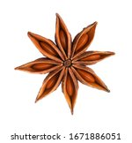 Whole Star Anise Isolated On...
