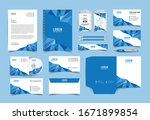 corporate identity template... | Shutterstock .eps vector #1671899854
