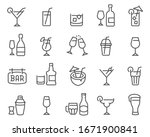 alcohol and cocktails icon set. ... | Shutterstock .eps vector #1671900841