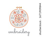 logo hoop with embroidered... | Shutterstock .eps vector #1671909844
