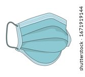 hygienic mask or surgical... | Shutterstock .eps vector #1671919144