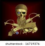 piracy skul   Shutterstock .eps vector #16719376