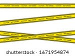 vector set of restriction tapes ... | Shutterstock .eps vector #1671954874