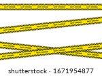 vector set of restriction tapes ... | Shutterstock .eps vector #1671954877