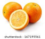 Orange Fruit With A Half...