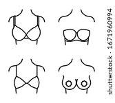 wear a bra line style icon   Shutterstock .eps vector #1671960994