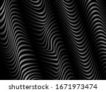 black and white wavy lines... | Shutterstock .eps vector #1671973474