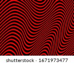 red wavy lines on red vector... | Shutterstock .eps vector #1671973477