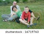 happy family spending time...   Shutterstock . vector #16719763