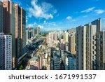 cityscape of hong kong...   Shutterstock . vector #1671991537