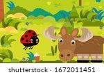 cartoon scene with different... | Shutterstock . vector #1672011451