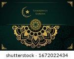 ramadan vector background ... | Shutterstock .eps vector #1672022434