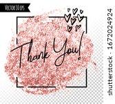 golden foil glitter brush... | Shutterstock .eps vector #1672024924