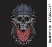 Skull Bandana Vector...
