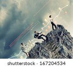 image of young businesspeople...   Shutterstock . vector #167204534