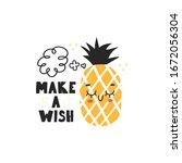 cute character pineapple.vector ... | Shutterstock .eps vector #1672056304