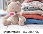 Crochet Teddy Bear With Stack...