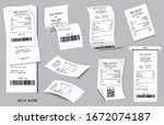 set of realistic cash register... | Shutterstock .eps vector #1672074187