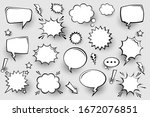 collection of empty comic... | Shutterstock .eps vector #1672076851