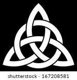 3 point celtic trinity knot ... | Shutterstock .eps vector #167208581