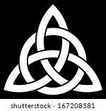 3 point celtic trinity knot ... | Shutterstock .eps vector #167208581
