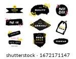 grunge label set  vector... | Shutterstock .eps vector #1672171147