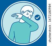 practice respiratory hygiene ... | Shutterstock .eps vector #1672180984