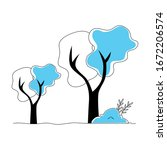 trees plants nature isolated... | Shutterstock .eps vector #1672206574