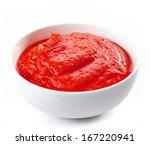 fresh  organic pureed tomatoes... | Shutterstock . vector #167220941