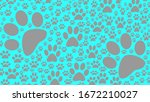 Background Dog Footprints...