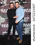 Small photo of LOS ANGELES - FEB 25: A.J. Buckley and Max Thieriot arrives for �'Seal Team' Winter Premiere on February 25, 2020 in Hollywood, CA