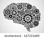 brain gear | Shutterstock .eps vector #167221685