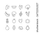 cooking and food icons set for... | Shutterstock .eps vector #1672231327