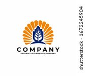agriculture wheat   grain logo...