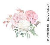 dusty pink blush  white and... | Shutterstock .eps vector #1672293124