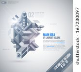 futuristic design template with ... | Shutterstock .eps vector #167230097